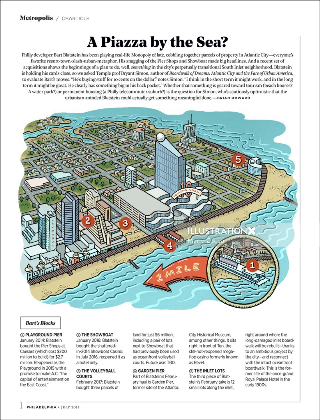 Editorial Illustration of Philadelphia magazine