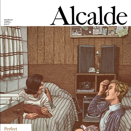 Cover page illustration of Perfect strangers for The Alcalde magazine