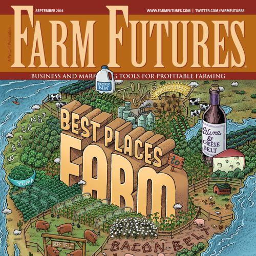Farm futures magazine cover design