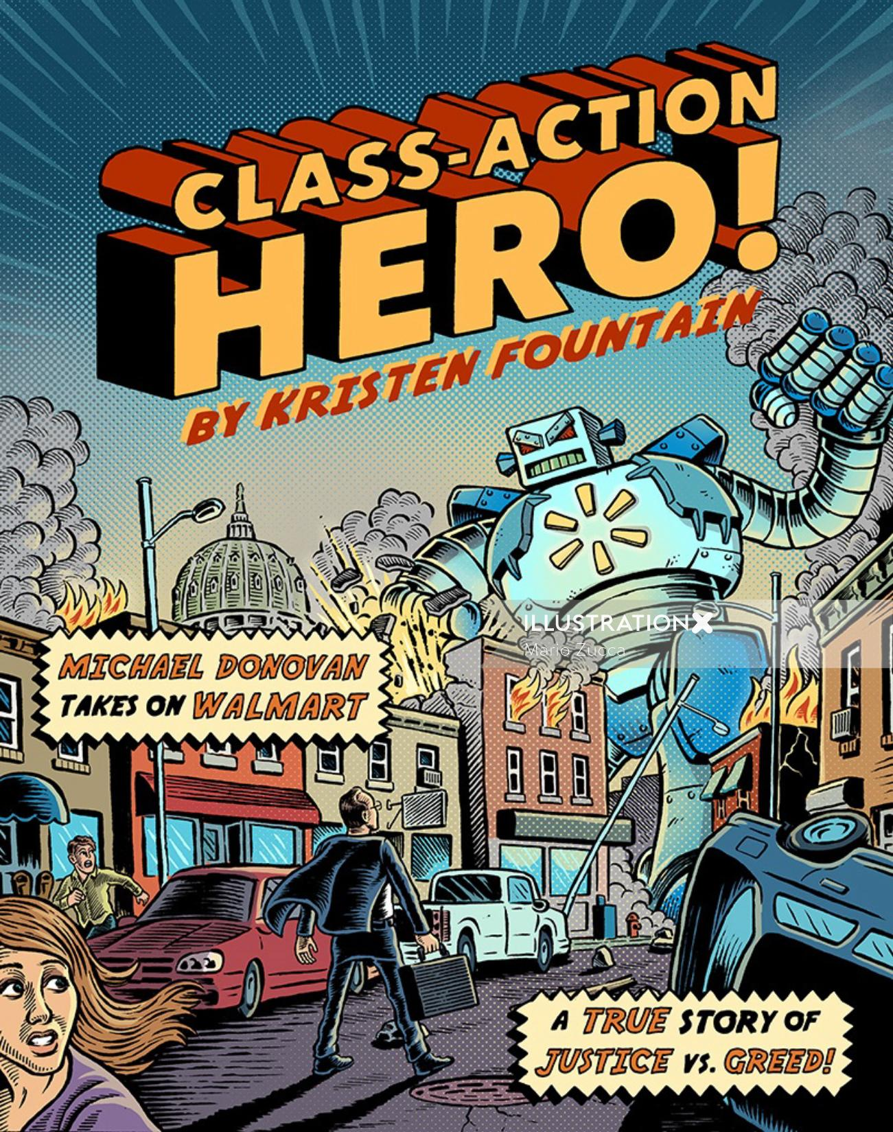 Character illustration of Class-Action hero