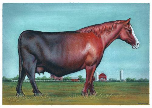 Pintura digital de cavalo