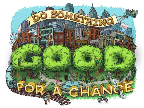 Do Something Good for a Change pen & Ink lettering