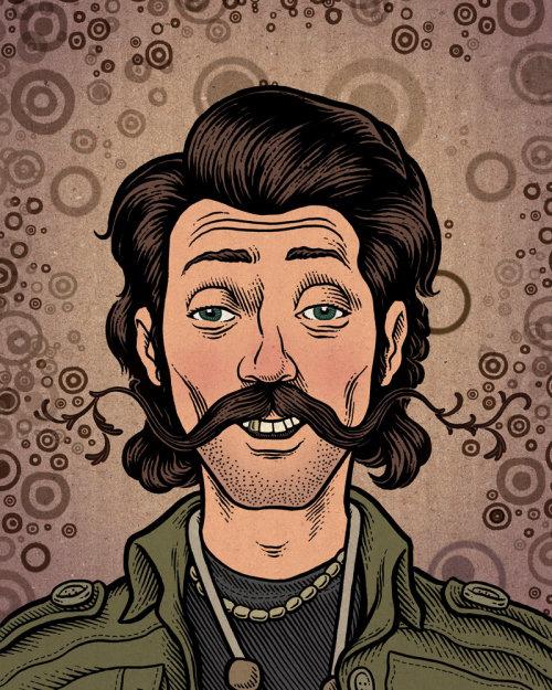 Retrato de Eugene hutz pelo ilustrador americano