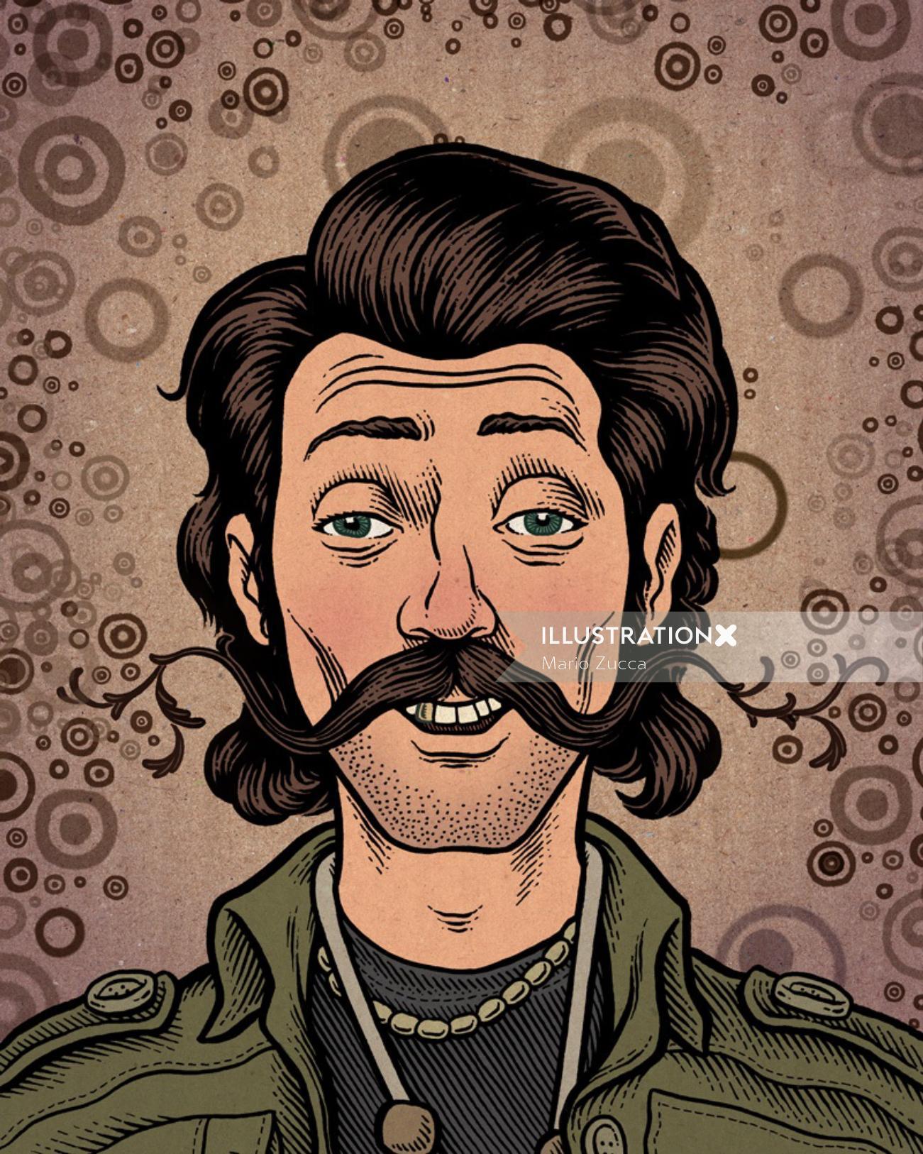 Eugene hutz portrait by American illustrator