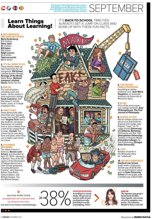 Ilustração editorial de fake house - Maxim magazine