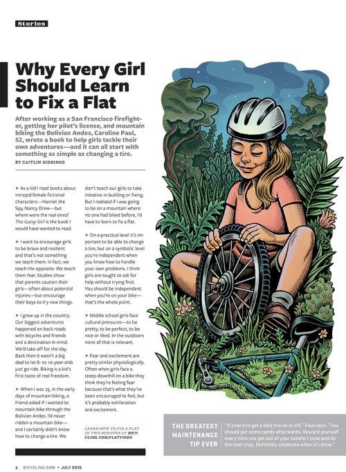 Ilustração editorial de consertar um apartamento para a revista Bicycle
