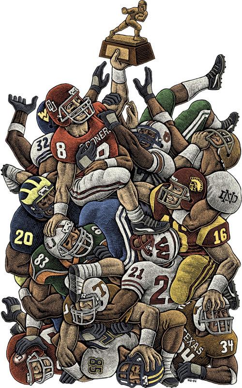 Ilustração do jogo de rugby