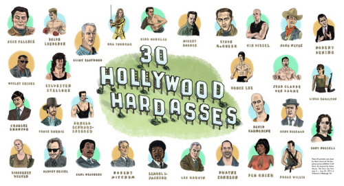 30 Hollywood Hardasses Digital lettering