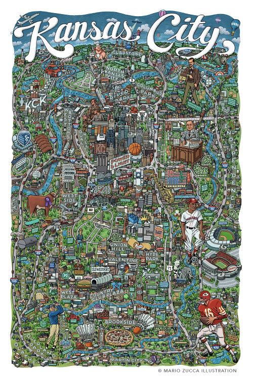 Mapa extraordinário desenhado pelo ilustrador norte-americano