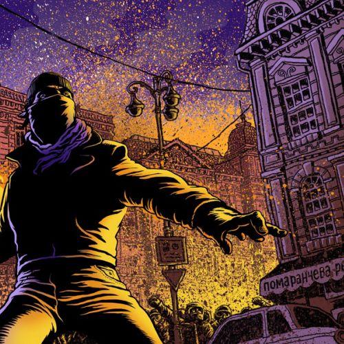 Digital painting of street fighters