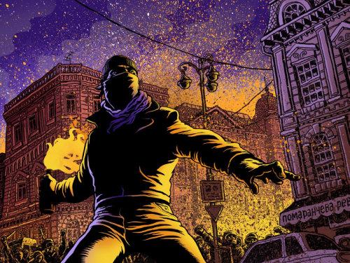 Pintura digital de lutadores de rua