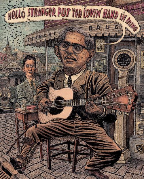 Ilustração do músico americano Lesley Riddle