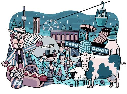 Design gráfico da feira estadual de Minnesota