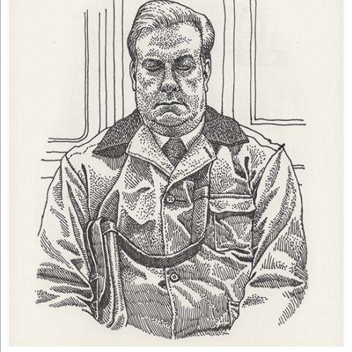 Pencil art of man by Mario Zucca