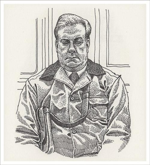 Arte do lápis do homem por Mario Zucca