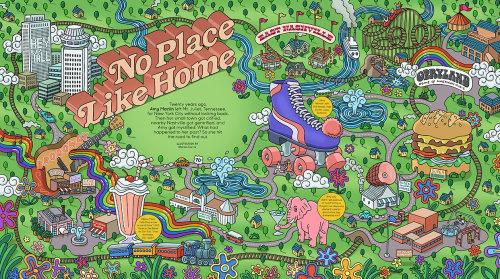 O, The Oprah Magazine Mapa de Nashville