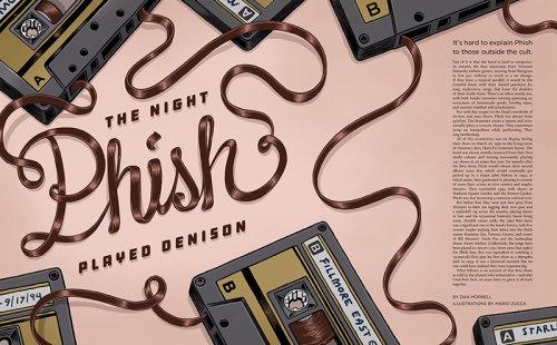 Design gráfico do phish noturno