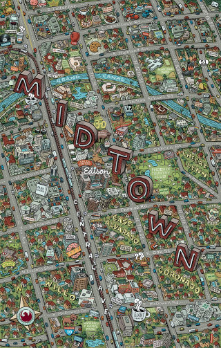 Edison Midtown Map illustration