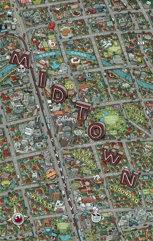 Ilustração do mapa de Edison Midtown