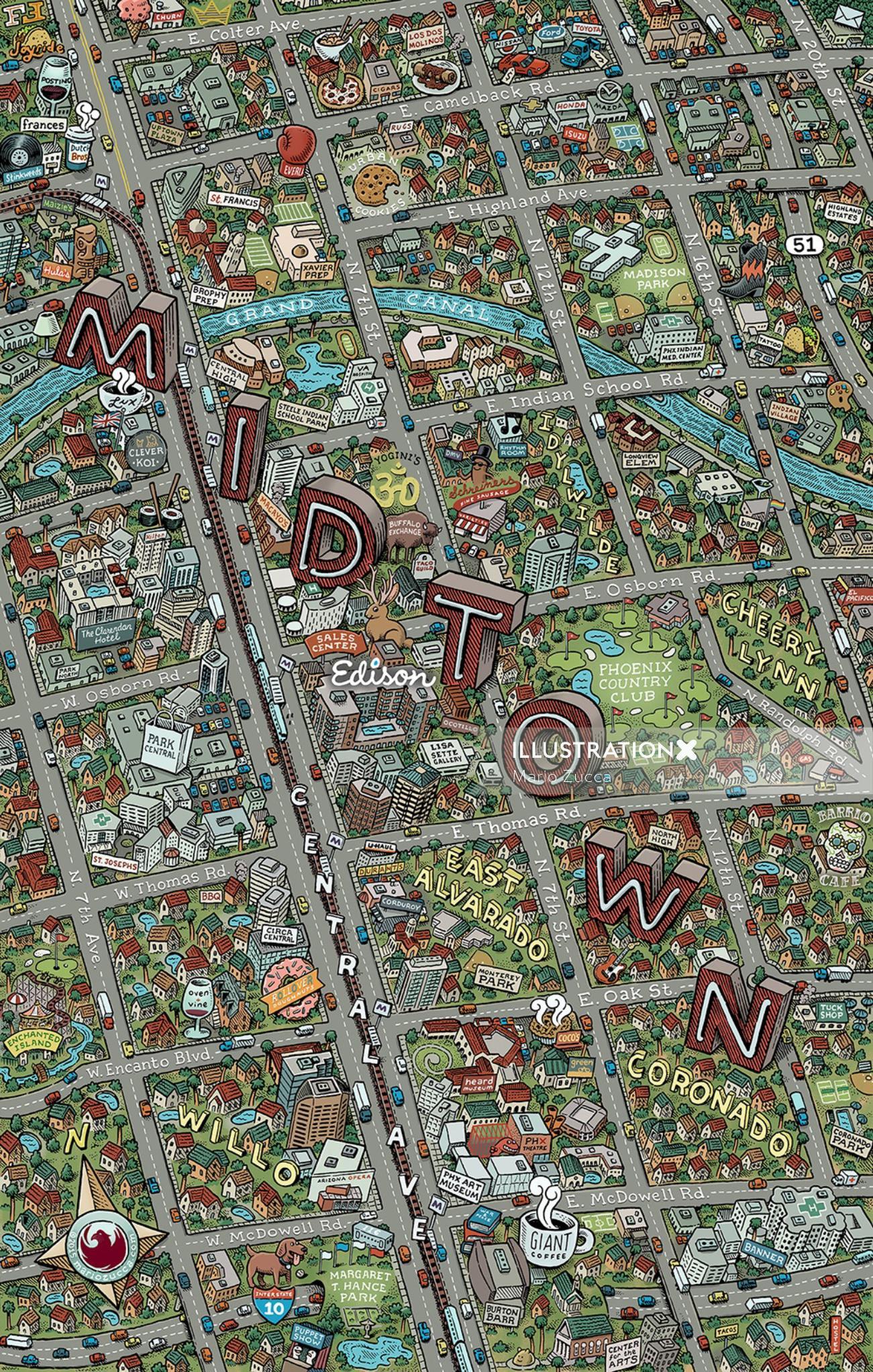 Edison Midtown Map illustration