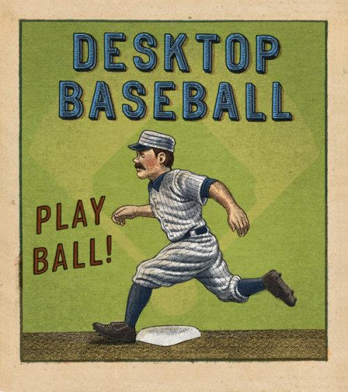 Desktop Baseball hand lettering