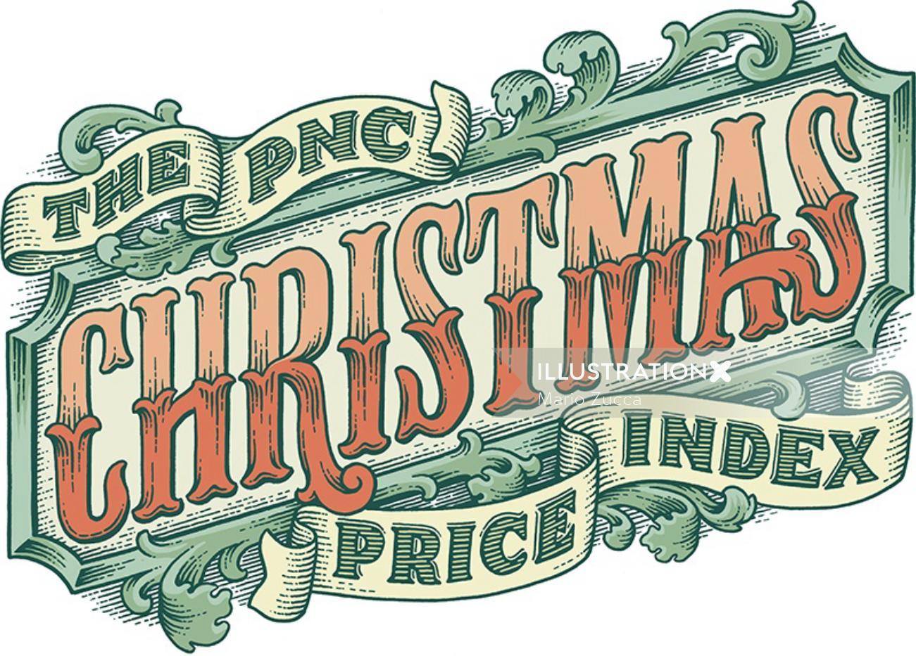 PNC Christmas Price digital lettering