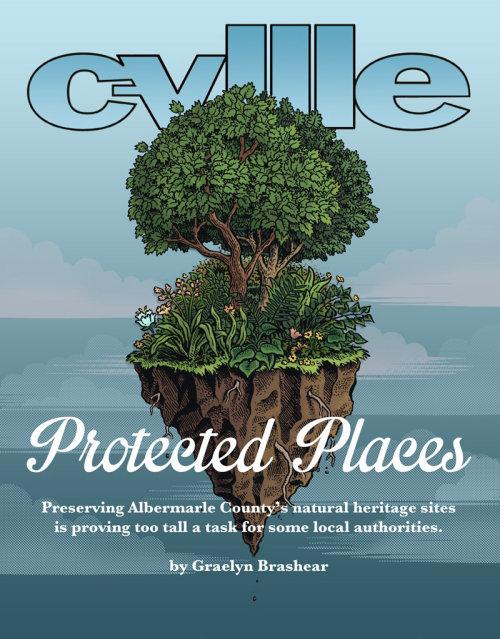 Design gráfico do local protegido c-vell