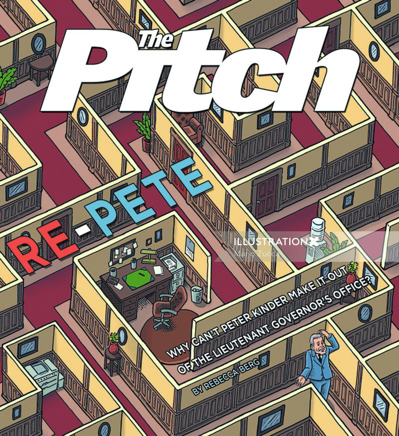 Lettering art of Pitch repeat