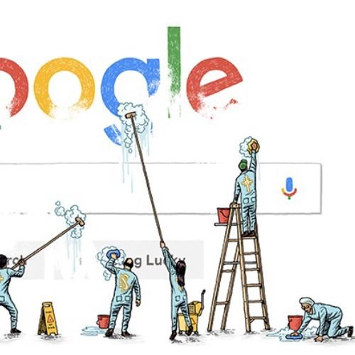 Illustration of google search