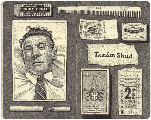 Narrative illustration of Tamam Shud's unsolved mystery case