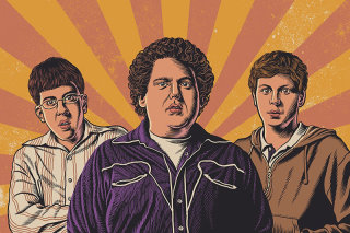 Illustration of Superbad movie actors