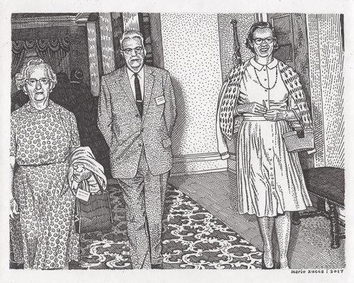 Preto e branco retrato de foto de família