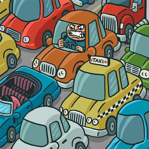 Traffic Rage animation