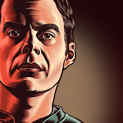 Portrait illustration of Bill Hader