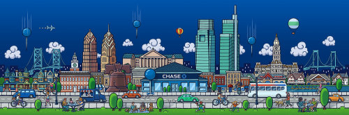 Graphic design of Chase Bank