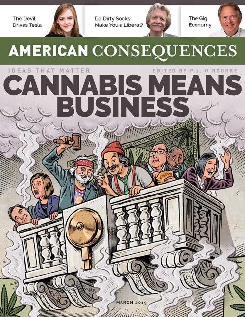 Ilustração editorial para American Consequences