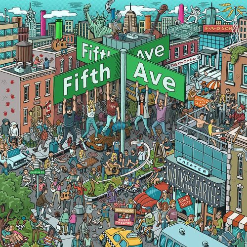 Fifth Ave Album Artwork Illustration