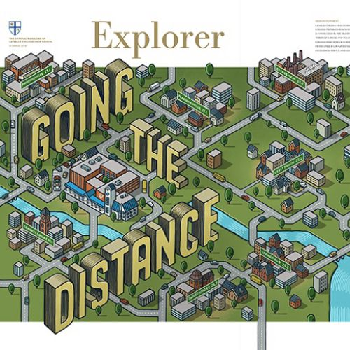 Editorial illustration of going the distance