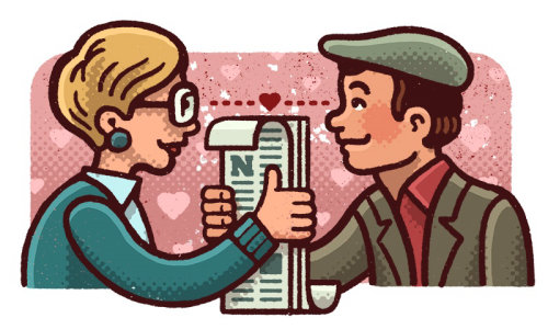 Casal ama ilustração de Mario Zucca