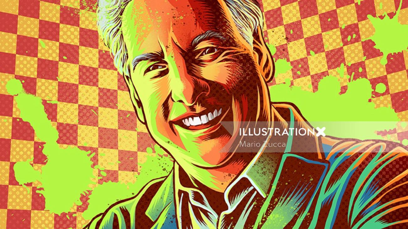 Portrait illustration of Marc summers