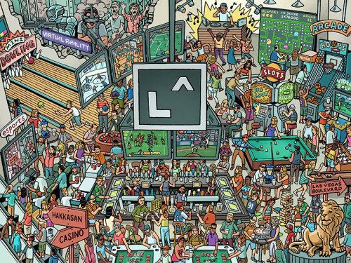 Ilustração de estilo de vida de Los Angeles