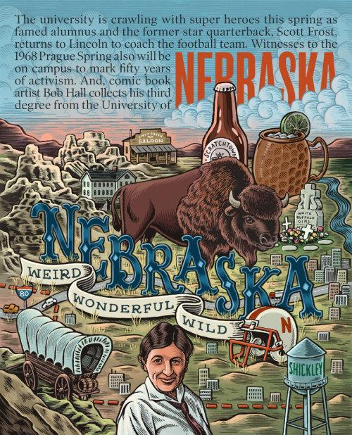Nebraska book cover illustration