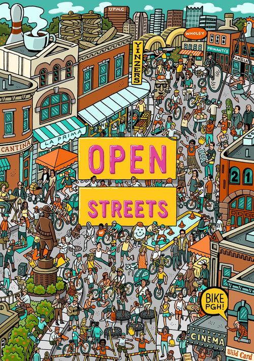 Arte da tipografia da rua aberta