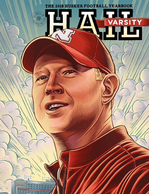 Scott Frost portrait illustration
