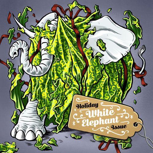 Digital painting of white elephant issue