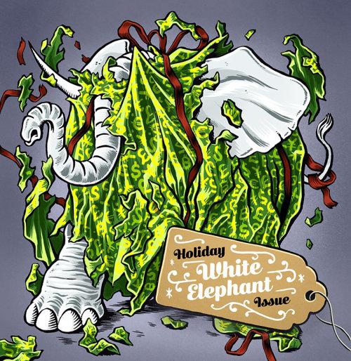 Pintura digital da questão do elefante branco