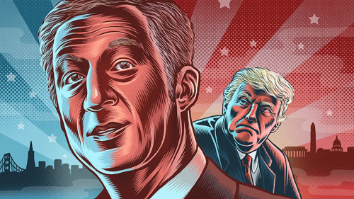 Ilustração de Tom Steyer Portrait
