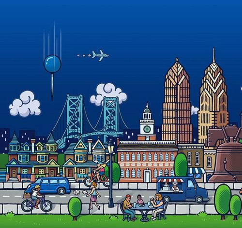Design gráfico da paisagem urbana