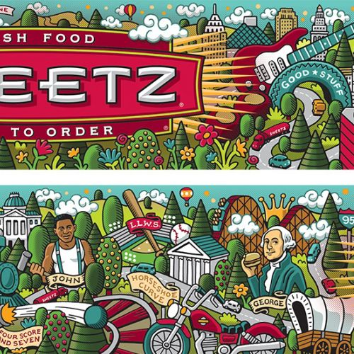 Advertising illustration for Sheetz Fresh Food