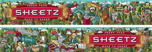 Ilustração publicitária para Sheetz Fresh Food